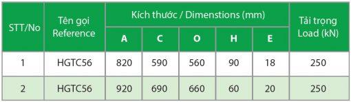 Kich Thuoc Nap Ho Ga